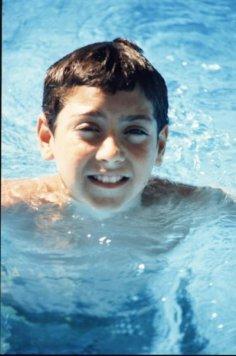 Yo con 7 años en el curso donde nos enseñaron a nadar