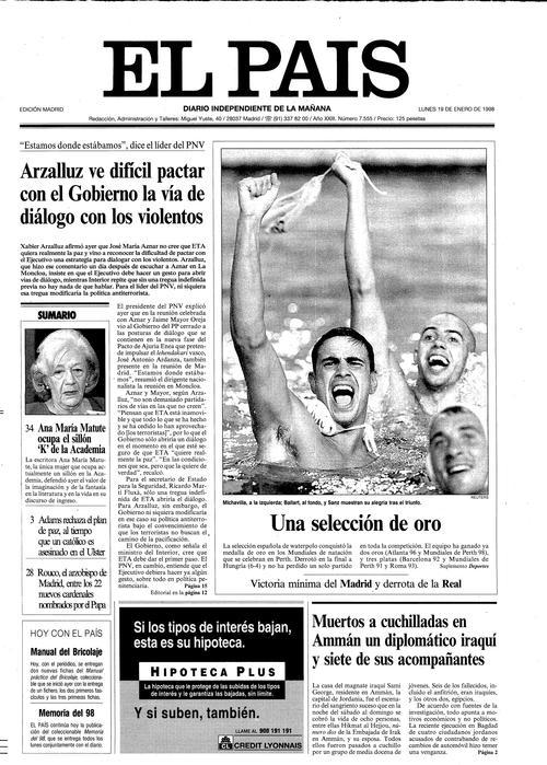 portada EL PAÍS waterpolo