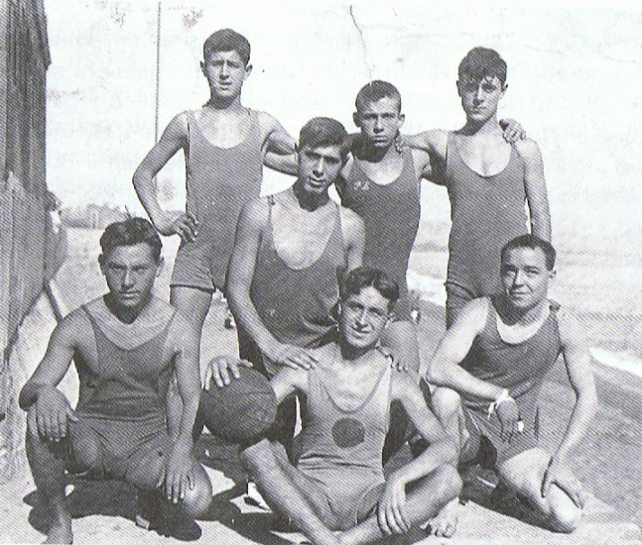 Jugadores del Club Natación Barceloneta